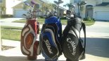 3 sets of golf clubs with this Orlando Villa for rent direct from owner