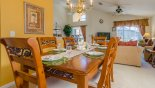 Spacious rental Emerald Island Resort Villa in Orlando complete with stunning Dining area seating 6