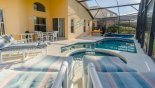 Villa rentals in Orlando, check out the View of pool & spa towards covered lanai