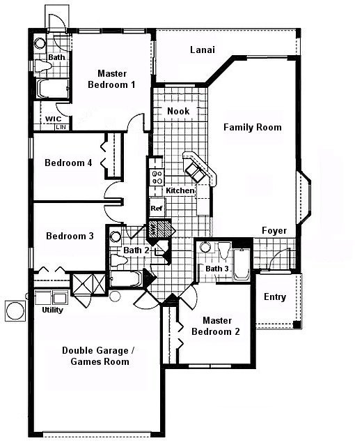 Grand Lagoon 1 Floorplan