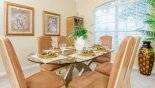 Villa rentals near Disney direct with owner, check out the Dining room with great views over front gardens