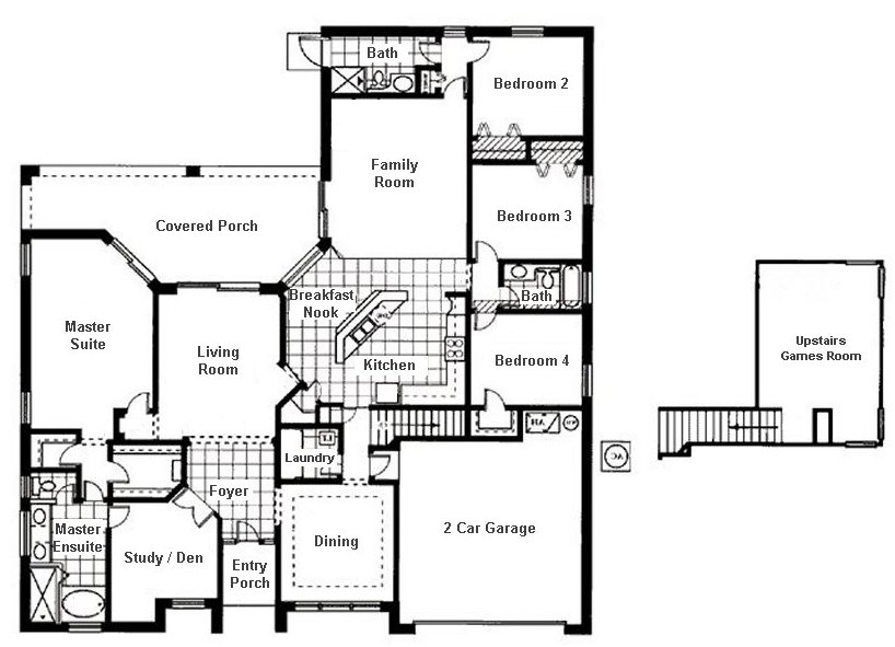 Wellesley + 1 Floorplan