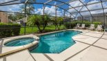 Pool & spa with sunny west facing deck - www.iwantavilla.com is the best in Orlando vacation Villa rentals