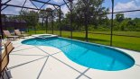 Pool with beautiful conservation views with this Orlando Villa for rent direct from owner