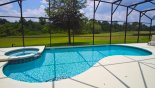 South west facing pool deck with sun all day and great sunsets from Charlotte Harbor 1 Villa for rent in Orlando