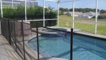 Pool showing toddler pool safety fence erected - www.iwantavilla.com is your first choice of Villa rentals in Orlando direct with owner