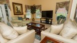 Orlando Villa for rent direct from owner, check out the Family room with large flat screen TV