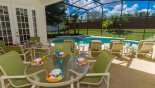 Orlando Villa for rent direct from owner, check out the Covered lanai with ample seating for alfresco dining