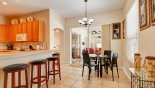Orlando Villa for rent direct from owner, check out the Breakfast nook with table & 4 chairs plus breakfast bar with 4 bar stools