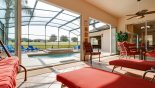 Monterey 3 Villa rental near Disney with Covered lanai with additional 2 sun loungers and swing seat
