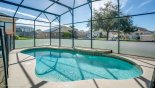 Villa rentals near Disney direct with owner, check out the Sunny west facing swimming pool with waterfall feature