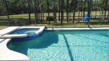 Villa rentals in Orlando, check out the Sunny west facing pool & spa with conservation views