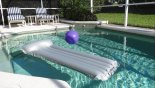 Pool deck is totally private with privacy hedges to all sides from Newton 5 Villa for rent in Orlando