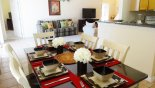 Dining table with seating for 6 from Highlands Reserve rental Villa direct from owner