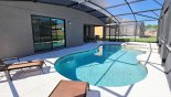 Orlando Villa for rent direct from owner, check out the Pool & spa viewed towards covered lanai