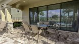 Spacious rental Reunion Resort Villa in Orlando complete with stunning Covered lanai with patio table & 6 chairs