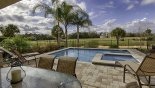 Sunny NW facing pool deck from Reunion Resort rental Villa direct from owner