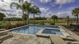 Orlando Villa for rent direct from owner, check out the Pool area with open golf course views
