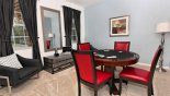 Study / Den with poker table from Watersong Resort rental Villa direct from owner