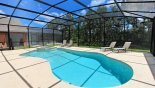 Villa rentals in Orlando, check out the Sunny extended pool deck with conservation view