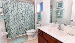 Master 4 ensuite bathroom with walk-in shower from Belleair Beach 6 Villa for rent in Orlando