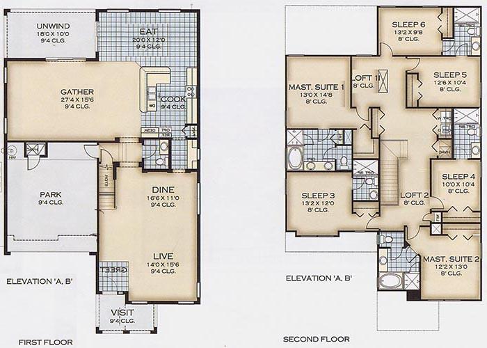 Belleair Beach 6 Floorplan