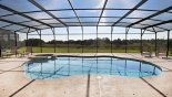 Pool & spa with 4 sun loungers and splendid conservation views from Crestview 4 Villa for rent in Orlando