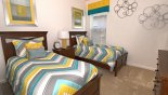 Crestview 4 Villa rental near Disney with Bedroom 5 with twin beds