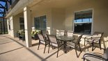 Crestview 4 Villa rental near Disney with Patio table under lanai with 6 - 8 chairs