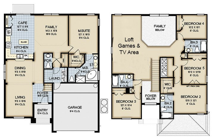 Queen Palm 1 Floorplan
