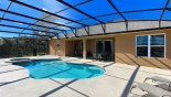 Extended pool deck is perfect for sun worshippers - www.iwantavilla.com is the best in Orlando vacation Villa rentals