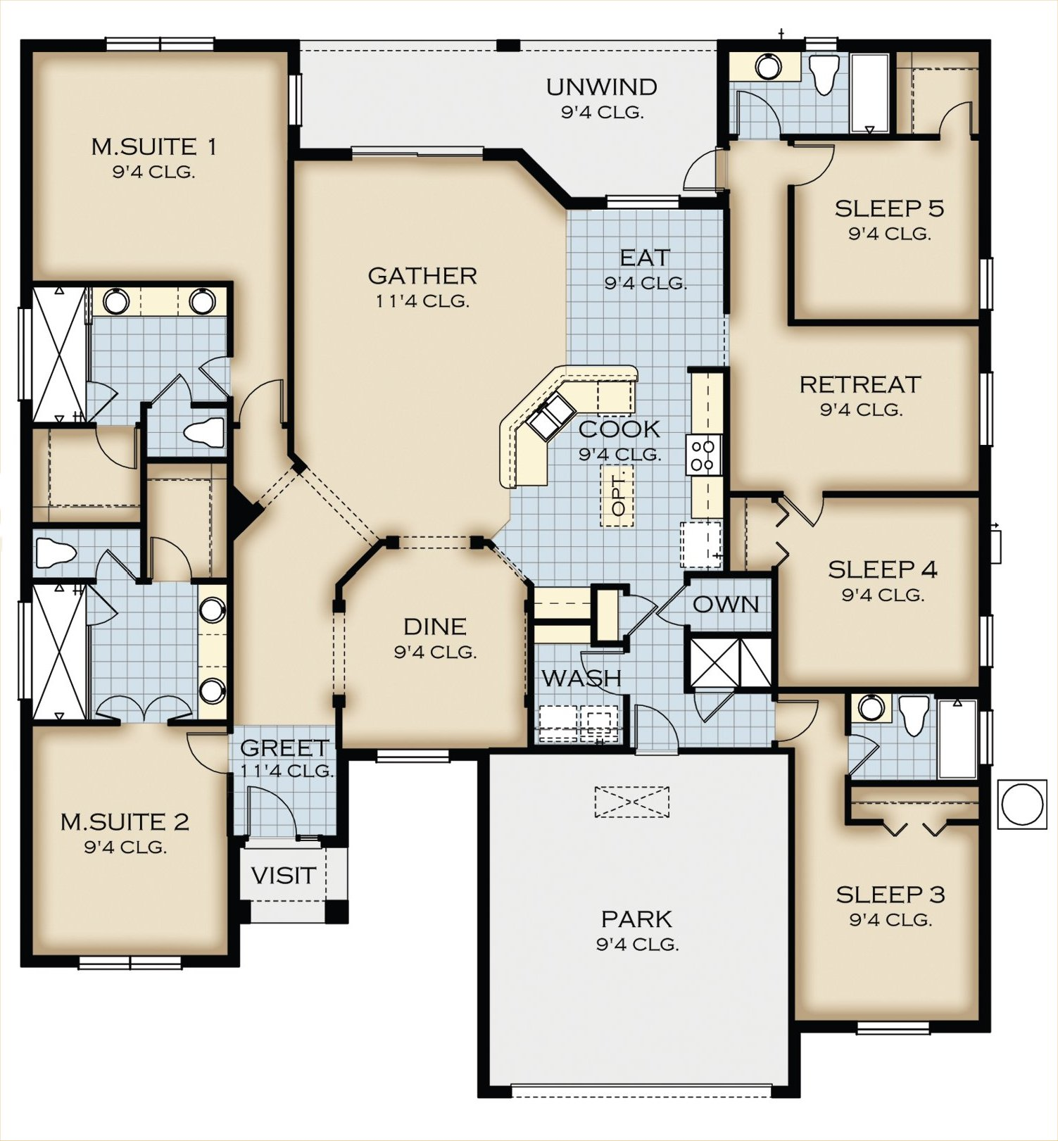 Crestview 5 Floorplan