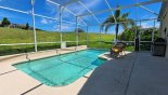 Pool area with open golf course views from Highlands Reserve rental Villa direct from owner