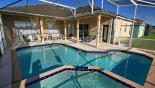 Greenwood + 1 Villa rental near Disney with View of pool towards covered shady lanai