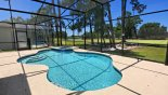 Villa rentals near Disney direct with owner, check out the Spacious pool deck with golf course views