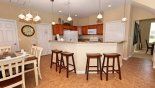 Breakfast bar with 4 bar stools from Ridgewood Lakes rental Villa direct from owner