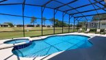 Pool & spa with 4 sun loungers and splendid golf course views - www.iwantavilla.com is the best in Orlando vacation Villa rentals