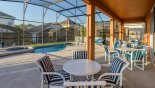 Pool deck with this Orlando Villa for rent direct from owner