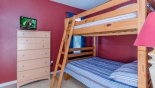 Bunk bedroom (twin over twin) from Emerald Island Resort rental Villa direct from owner