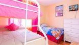 Orlando Villa for rent direct from owner, check out the Bunk bed (twin over fullsize) + additional twin bed