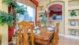 Dining room with this Orlando Villa for rent direct from owner