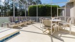 Pool deck with 4 sun loungers from Highlands Reserve rental Villa direct from owner