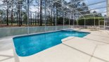 Superb 32ft pool and spa with golf course views through pine trees - www.iwantavilla.com is your first choice of Villa rentals in Orlando direct with owner