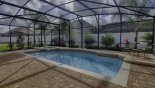 Fences to the rear provide plenty of privacy - www.iwantavilla.com is the best in Orlando vacation Villa rentals