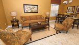 Open plan living room and dining area with this Orlando Villa for rent direct from owner