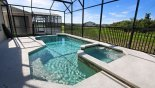 View of pool & spa with conservation views from Buckingham 1 Villa for rent in Orlando
