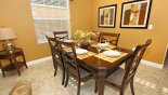 Dining area seating 6 from Buckingham 1 Villa for rent in Orlando