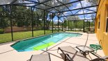 Ocean Palm 2 Villa rental near Disney with Large west facing pool with 4 sun loungers