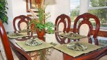 Villa rentals in Orlando, check out the Dining table with glass top