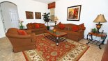 Family room with ample comfortable seating - www.iwantavilla.com is the best in Orlando vacation Villa rentals